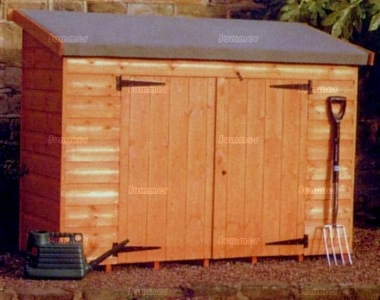 Shiplap Double Door Pent Roof Small Storage Shed 233