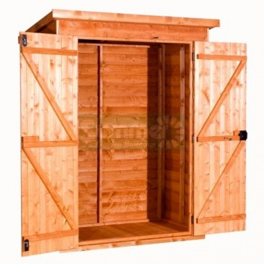 Overlap Pent Shed 245 - Double Door