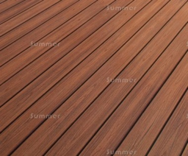 Solid Composite Decking Kit 268 - Brown Textured Woodgrain